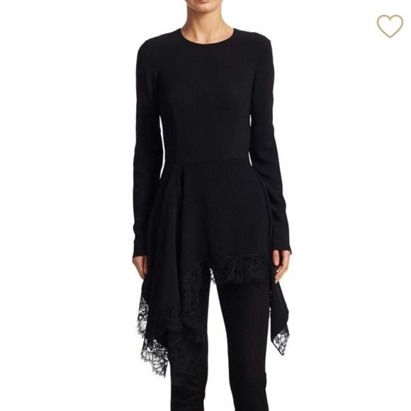 22c770b82271 Givenchy Lace Trim Cady Handkerchief Top